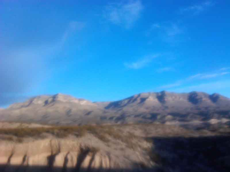 blue sky over the Caballo Mountains